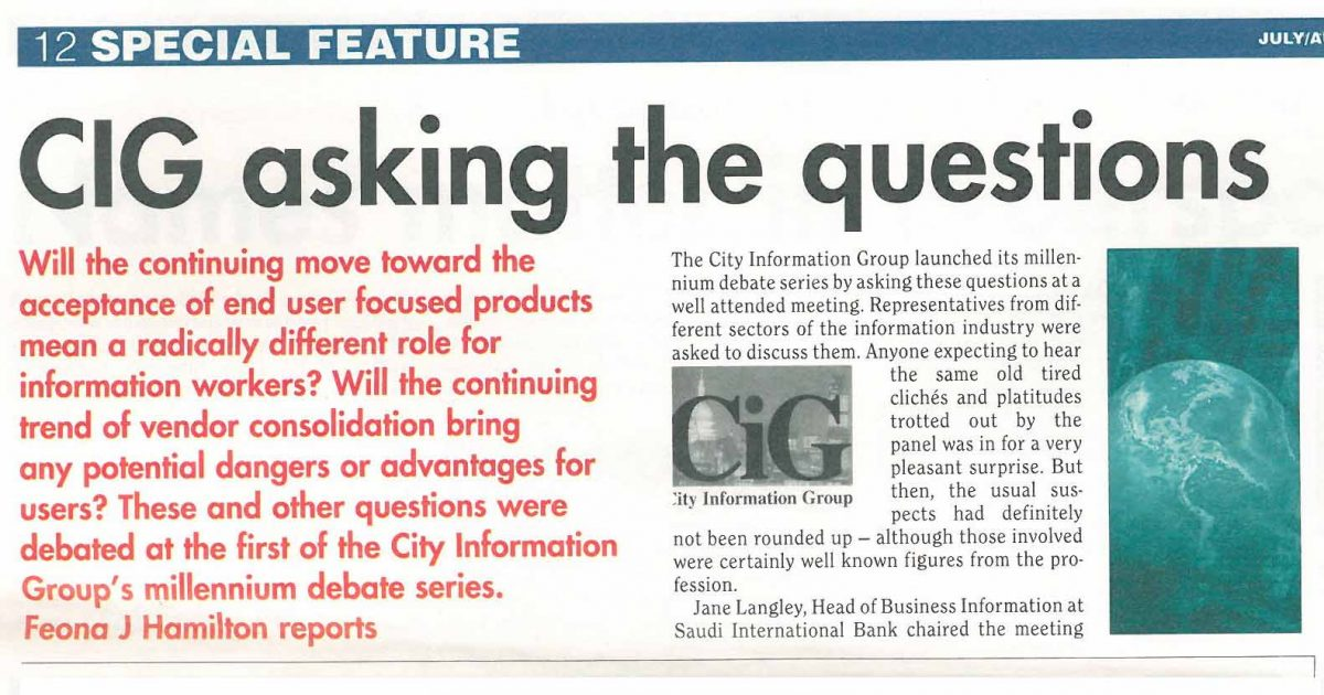 INFORMATION WORLD REVIEW 1999